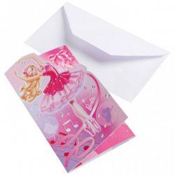 Pozvánky Barbie 6ks