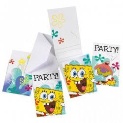 Pozvánky SpongeBob 6ks