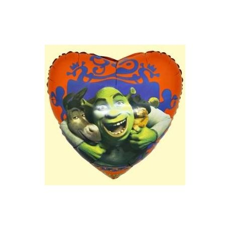 Balón Shrek - srdce