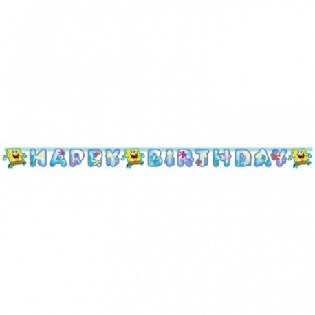 Banner happy birthday SpongeBob