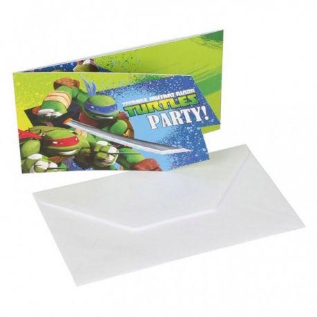Pozvánky Ninja korytnačky 6ks