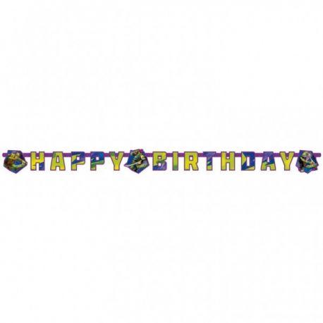 Banner happy birthday Ninja korytnačky