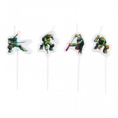 Sviečky Ninja korytnačky 4ks