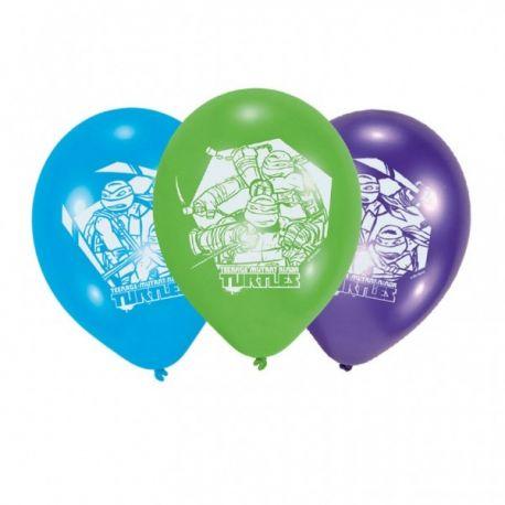 Balóny Ninja korytnačky 6ks