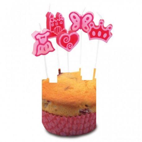 Sviečky na tortu dievčenské 8ks