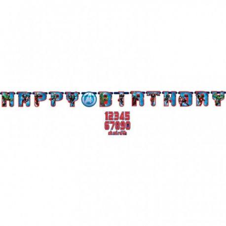 Banner happy birthday Avengers