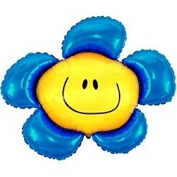 Balón Kvetinka modrá
