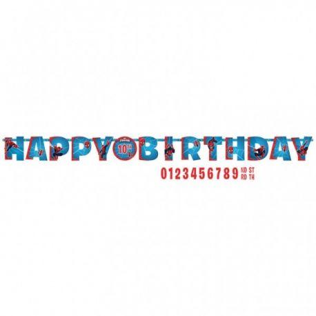 Banner happy birthday Spiderman