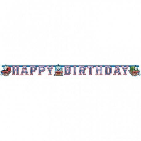 Banner happy birthday vláčik Tomáš