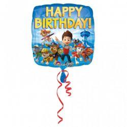 Fóliový balón happy birthday Paw Patrol