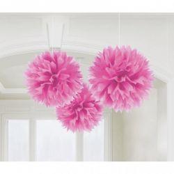 Dekoračné ponpóny ružové