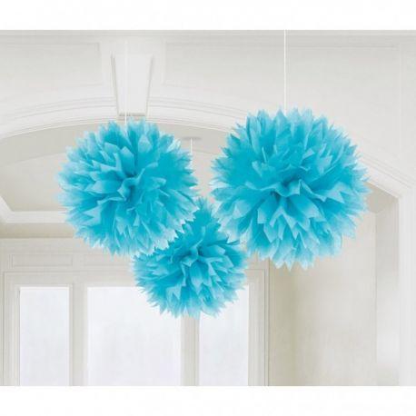 Dekoračné ponpóny modré