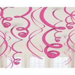 Závesná špirálová dekorácia ružová