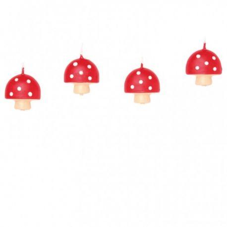 Sviečky hríbiky 4ks
