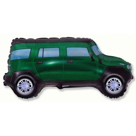 Balón Terénne auto zelené