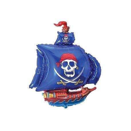 Balón Pirátska loď modrá