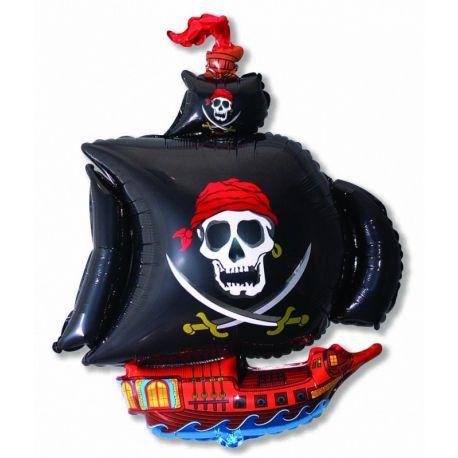 Balón Pirátska loď čierna