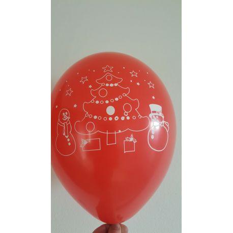 Vianočný balón červený
