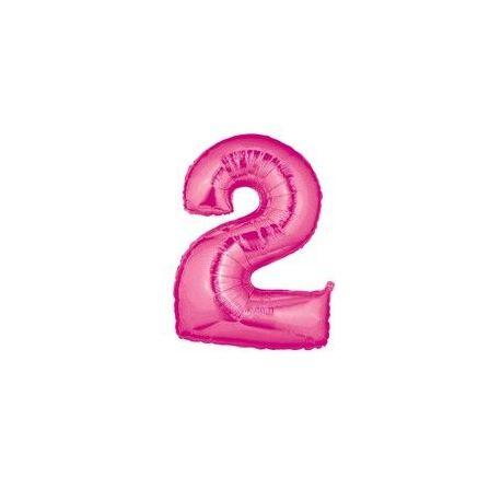 """Číslo """"2"""" - ružová"""