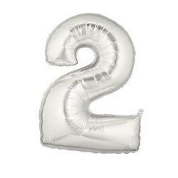 """Číslo """"2"""" - strieborná"""