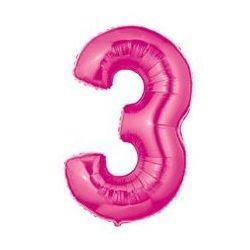 """Číslo """"3"""" - ružová"""