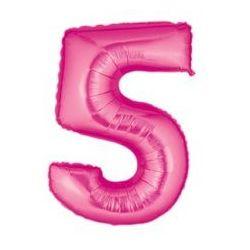 """Číslo """"5"""" - ružová"""
