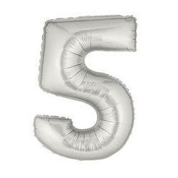 """Číslo """"5"""" - strieborná"""