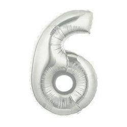 """Číslo """"6"""" - strieborná"""
