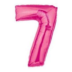 """Číslo """"7"""" - ružová"""