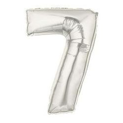 """Číslo """"7"""" - strieborná"""