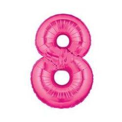"""Číslo """"8"""" - ružová"""