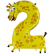 "Číslo ""2"" - žirafa"