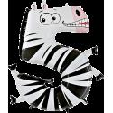 """Číslo """"5"""" zebra"""