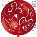 Balón s ornamentami (75cm)