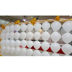 Balón štvorec biely 45x45 cm