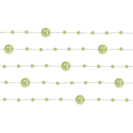 Perlová girlanda svetlo zelená