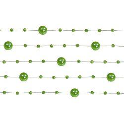 Perlová girlanda zelená