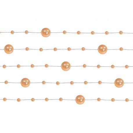 Perlová girlanda oranžová