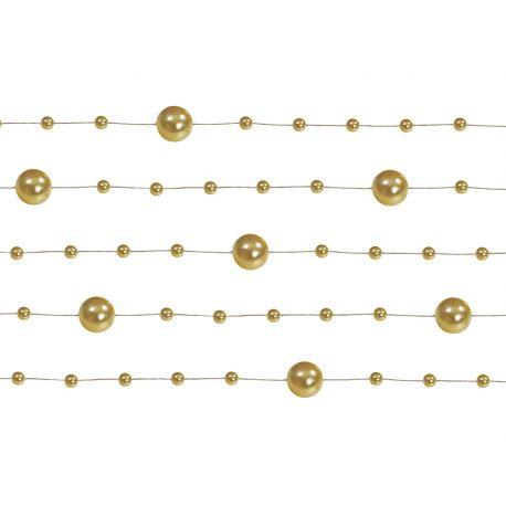 Perlová girlanda zlatá