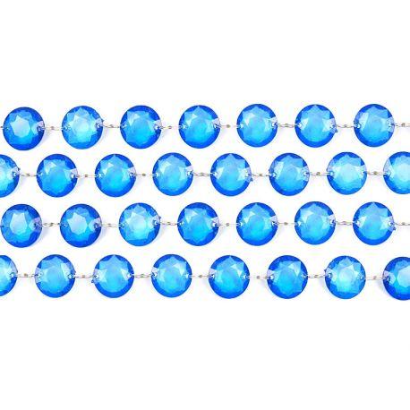 Kryštálová girlanda modrá