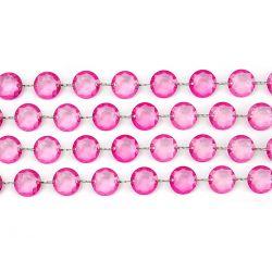 Kryštálová girlanda ružová
