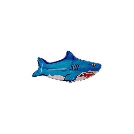 Balón Žralok - modrý, zelený