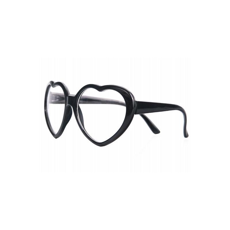 Party okuliare srdiečkové čierne 180a0898f29