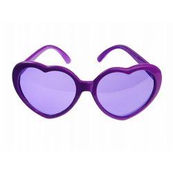 Party okuliare srdiečkové fialové