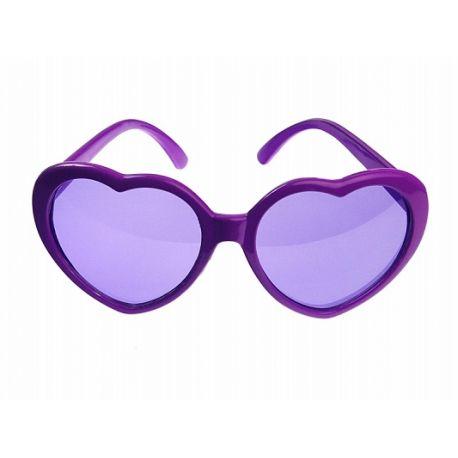 Party okuliare srdiečkové fialové 534a19cfc26