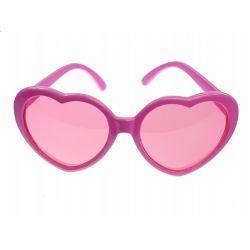 Party okuliare srdiečkové ružové
