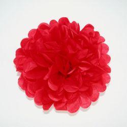 Papierový pompón červený 20cm