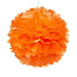 Papierový pompón oranžový 20cm