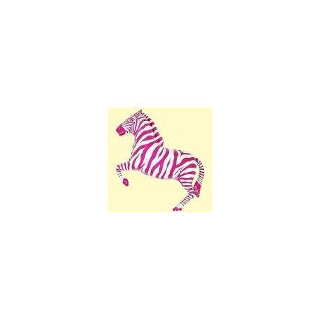 Balón Zebra ružová