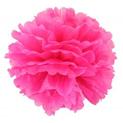 Papierový pompón ružový 20cm